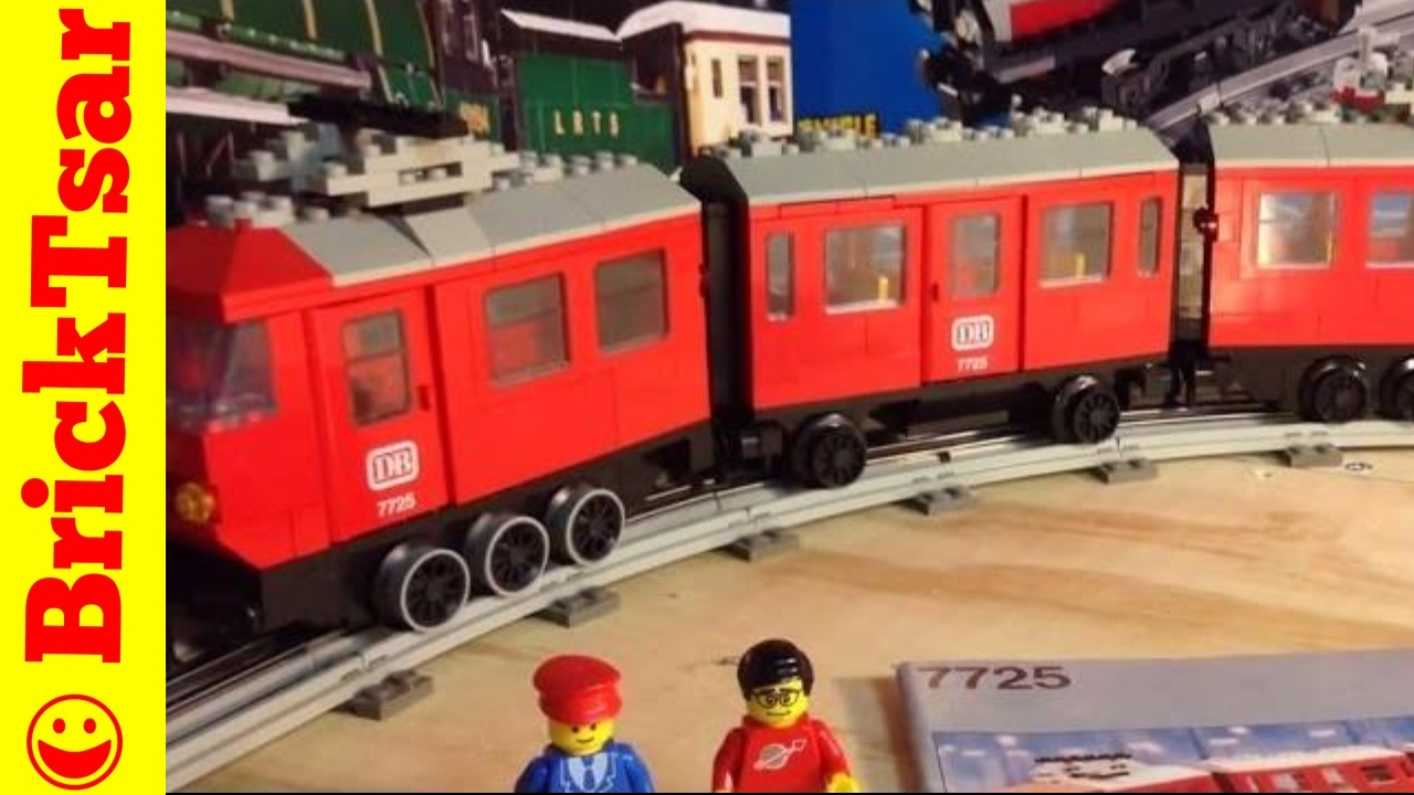 Vintage Lego 12v Train 7725 Electric Passenger Train From
