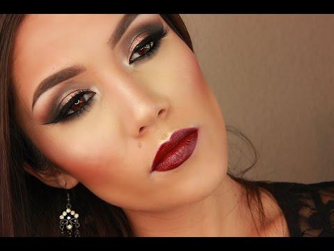 Dark Fall Inspired Eyes & Berry Lips Using Naked 2 Palette