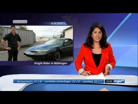 Mein Knight Rider Kitt Replica bei RegioTV Stuttgart