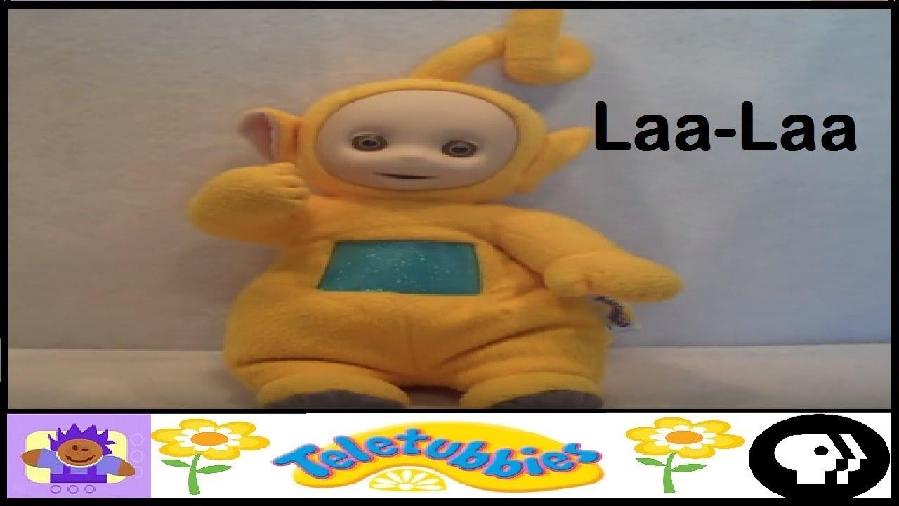 Laa Laa: 1998 PBS Teletubbies Talking Laa Laa Plush By Playskool
