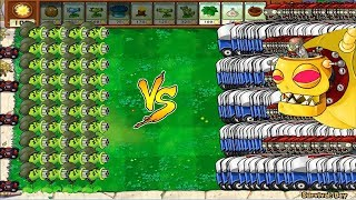 Gatling Pea vs Dr. Zomboss and Zomboni Plants vs Zombies