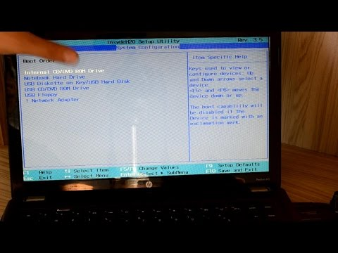 Como fazer Boot por usb pendrive notebook HP Pavilion DV5 - BIOS SETUP