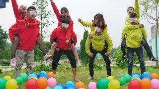 Funny Game Show Ride Blind Horse Step Balloons - مضحك عرض اللعبة اركب بليند حصان خطوة بالونات