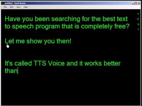 Free Text To Speech Language Translation Program