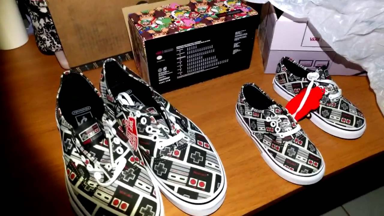 4fe541b06d Vans X Nintendo - Authentic Controllers (Exclusives) - YouTube