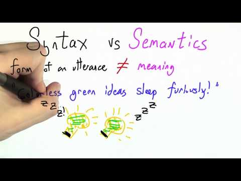Syntax Vs Semantics - Programming Languages