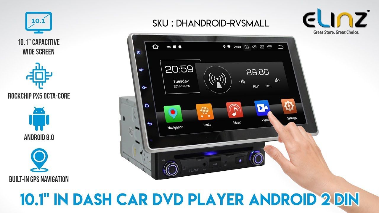 In Dash DVD Player Universal Android GPS WiFi BT | Elinz