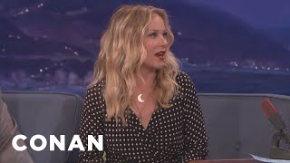 "Christina Applegate Isnt Getting Back Into Her ""Married With Children"" Miniskirt  - CONAN on TBS"