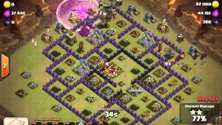 Clash of Clans 3star TH10 vs TH10 with Lavaloonion