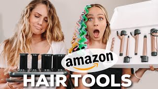 Testing out MORE weird hair tools from AMAZON ... this took a turn  Kayley Melissa