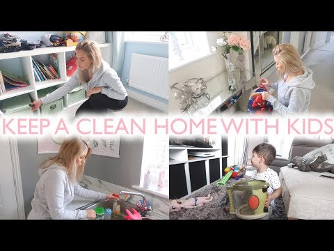 CLEANING TIPS FOR MUMS/MOMS | HOW TO KEEP A CLEAN HOME WITH KIDS | Lucy Jessica Carter