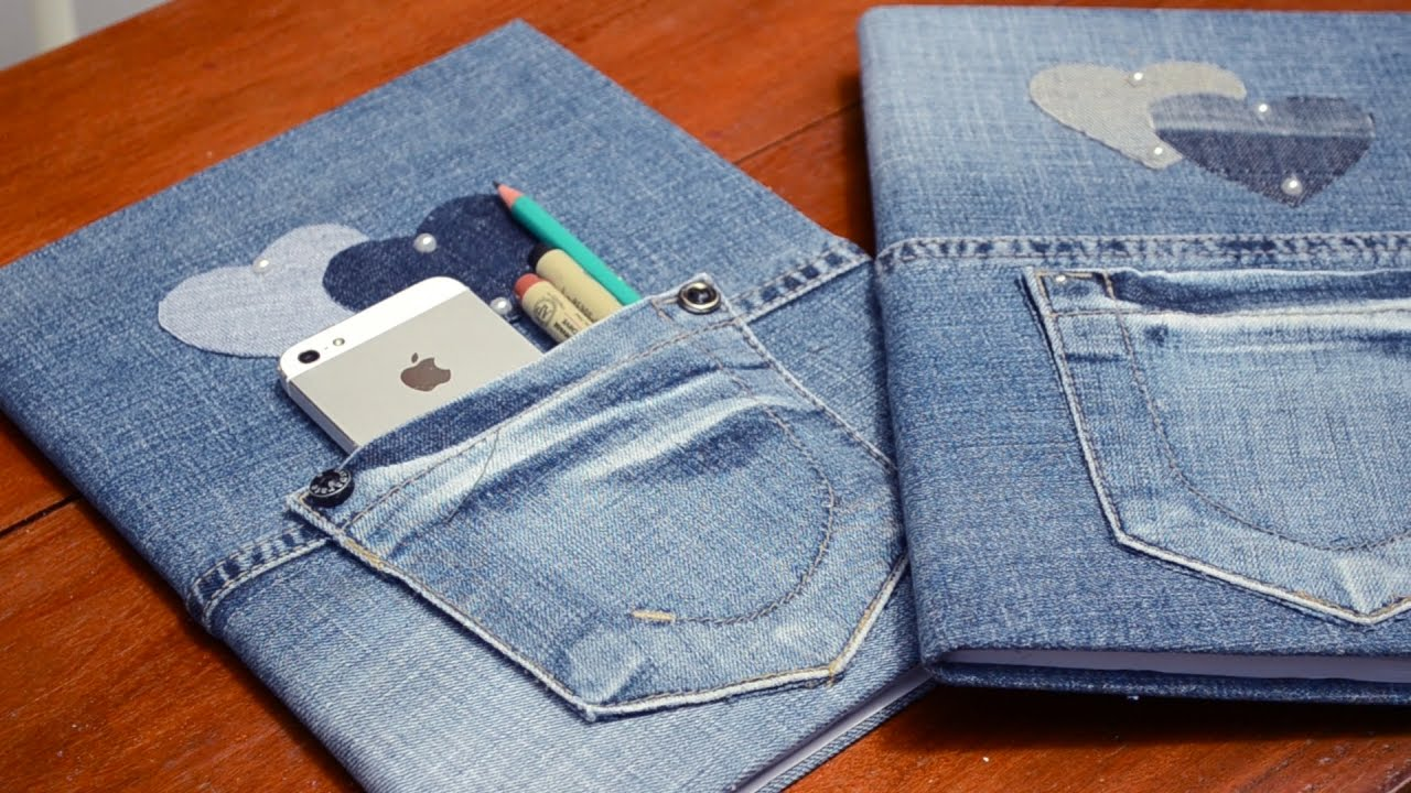 Caderno Customizado Com Jeans E Pérolas Youtube