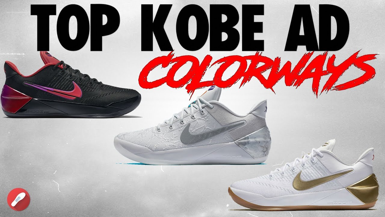 30fabe3e4e24 Top 10 Nike Kobe A.D. Colorways! - YouTube