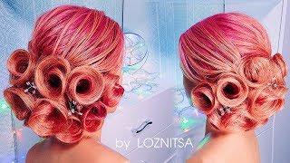 УДИВИТЕЛЬНАЯ ПРИЧЕСКА НА ВЫПУСКНОЙ ! . Розы из волос ★ Roses Hairstyle Tutorial.