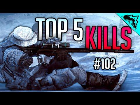 """Top 5 Battlefield 4 Kills (BF4 Sniping, Epic Tank, & Jet Win) """"WBCW"""" #102"""