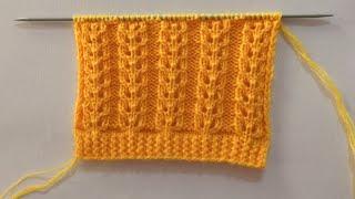 Easy Beautiful Knitting Stitch…