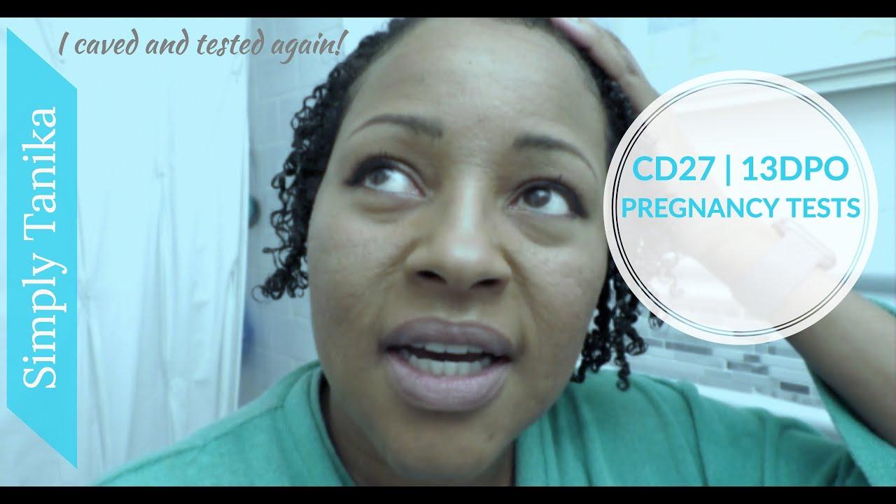 13 DPO Pregnancy Test I Live pregnancy test | TTC After