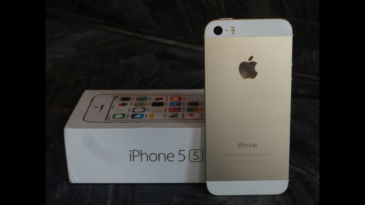 Unboxing Apple IPhone 5s Gold 16GB
