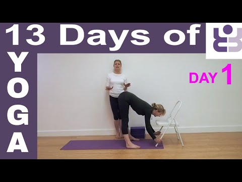 Day 1 - 13 Days of Yoga. Iyengar Yoga for Beginners