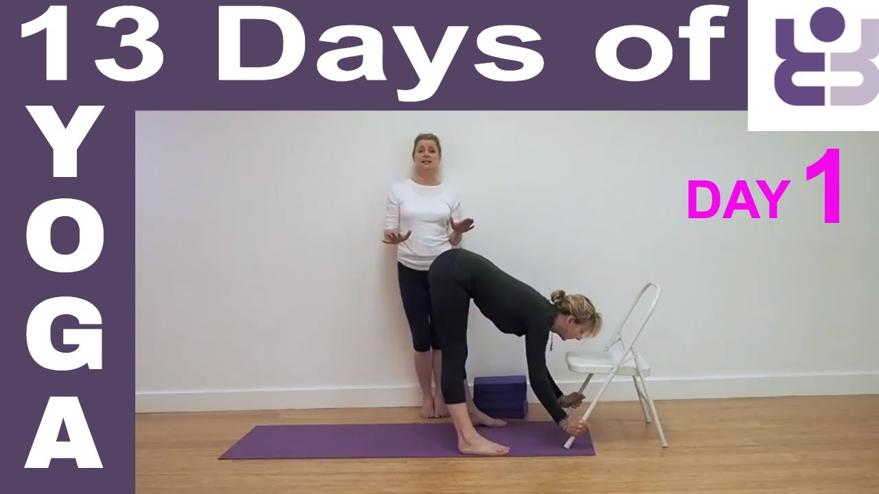 Day 1 13 Days Of Yoga Iyengar Yoga For Beginners Youtube
