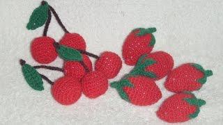 Клубничка! Вязание крючком!  Knitted strawberry.
