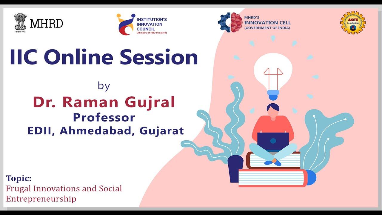 Session 16: Frugal Innovations and Social Entrepreneurship