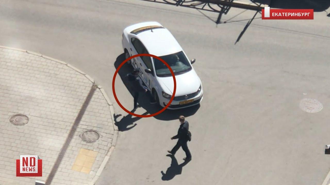 Автохам показал таксисту, кто здесь хозяин