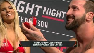 Fight Night Las Vegas: Alex Nicholson Wedding Proposal