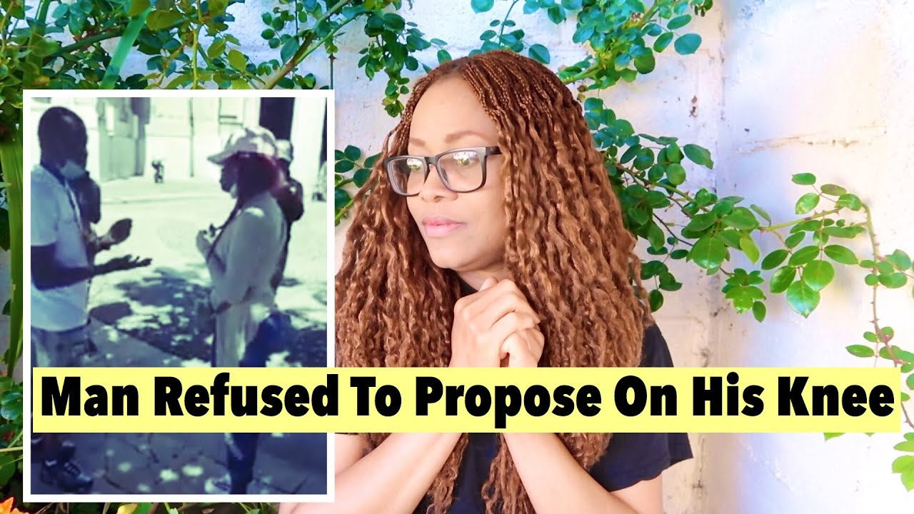 Nigerian Man Goes Viral For Refusing To Kneel Down To Propose To Girlfriend