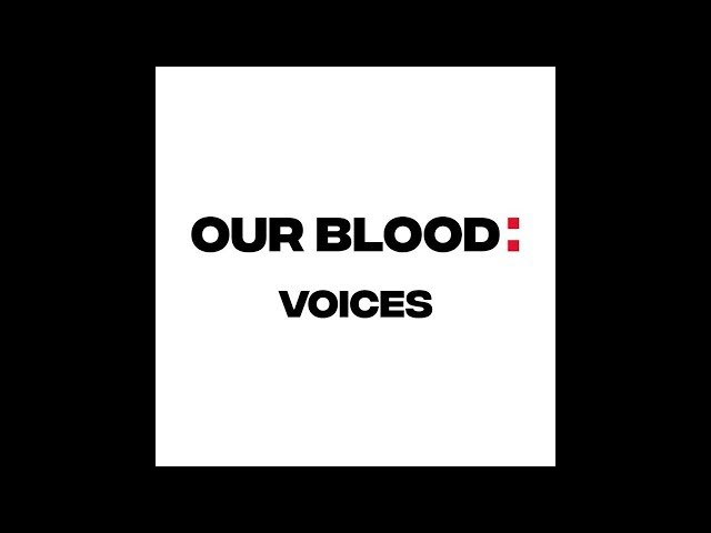 Frame of a video of Our Blood Voices speaking about the Odyssey project