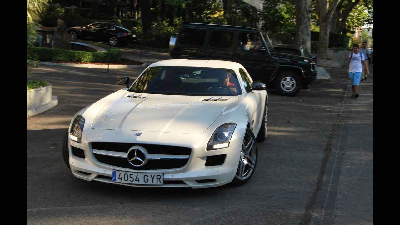 Cr7 driving his mercedes sls amg youtube for Garage amg auto
