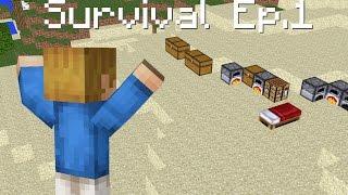 Minecraft Survival #1 - Melhor lugar para Construir!!!