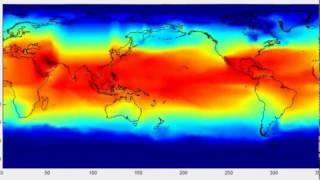 Oscillation de la température de surface des océans de 2014 à 2017