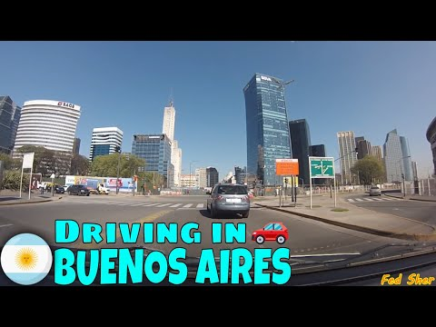 Driving in Buenos Aires (from Puerto Madero to Villa Crespo)