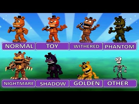 "Five Nights at Freddy's World EXTRA MENU ""All Characters"" 