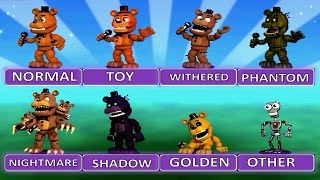Five Nights at Freddy s World EXTRA MENU All Characters