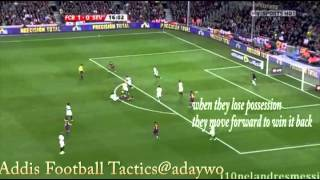 Guardiola's Barcelona counter pressing
