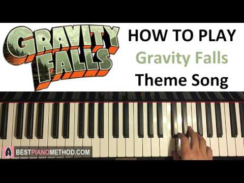 HOW TO PLAY - Gravity Falls Theme Song (Piano Tutorial Lesson)