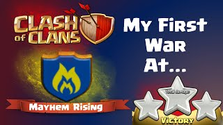 Clash of Clans | First War at Mayhem Rising - 3 Star Max TH10 Base in Clash of Clans