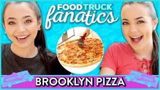 BROOKLYN PIZZA CHALLENGE | Food Truck Fanatics w/  The Merrell Twins