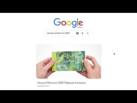 Versace Women's Spring Summer 2020 Flipbook Invitation