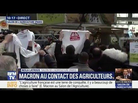 Salon de l agriculture macron siffl par les agriculteurs for Macron salon agriculture oeuf