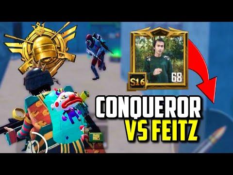 ASIA CONQUEROR AND HIS SQUAD VS FEITZ!   PUBG Mobile