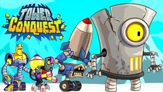МЕГА БОСС и АРМИЯ РОБОТОВ! Мульт игра для детей про БОИ и СРАЖЕНИЯ на АРЕНЕ Tower Conquest