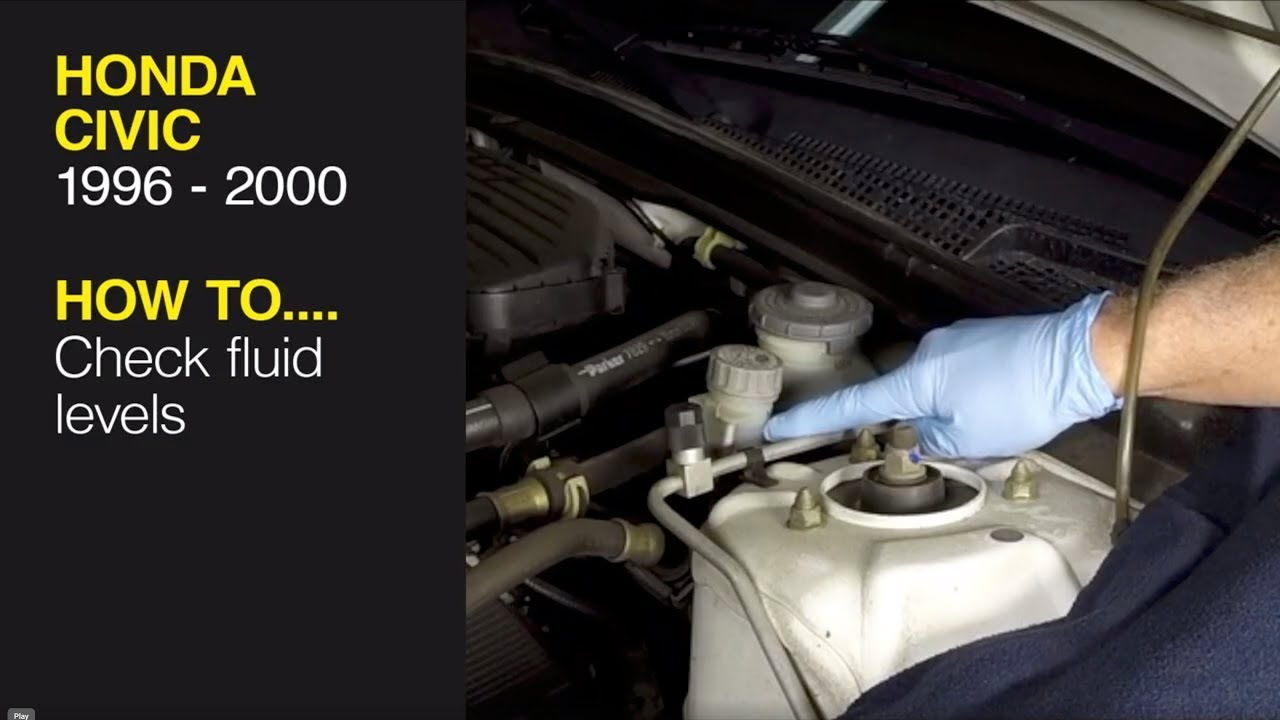 How To Check The Fluid Levels On A Honda Civic 96 00 Cr V 97 01 Acura Integra 94 00 Youtube