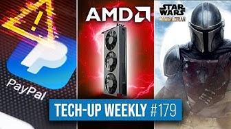PayPal-Betrug via Google Pay   AMD-GPU mit 24 GB   Disney+ für 60 Euro - Tech-up Weekly #179