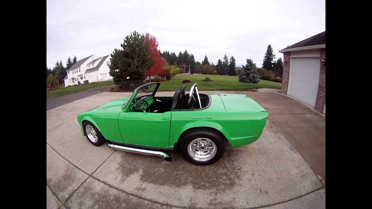 1969 TR6 with SB 350 - YouTube