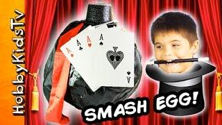 giant trick illusion surprise smash egg idea by hobbykidstv