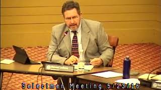 Acton, MA  Board of Selectmen Meeting 5/23/16