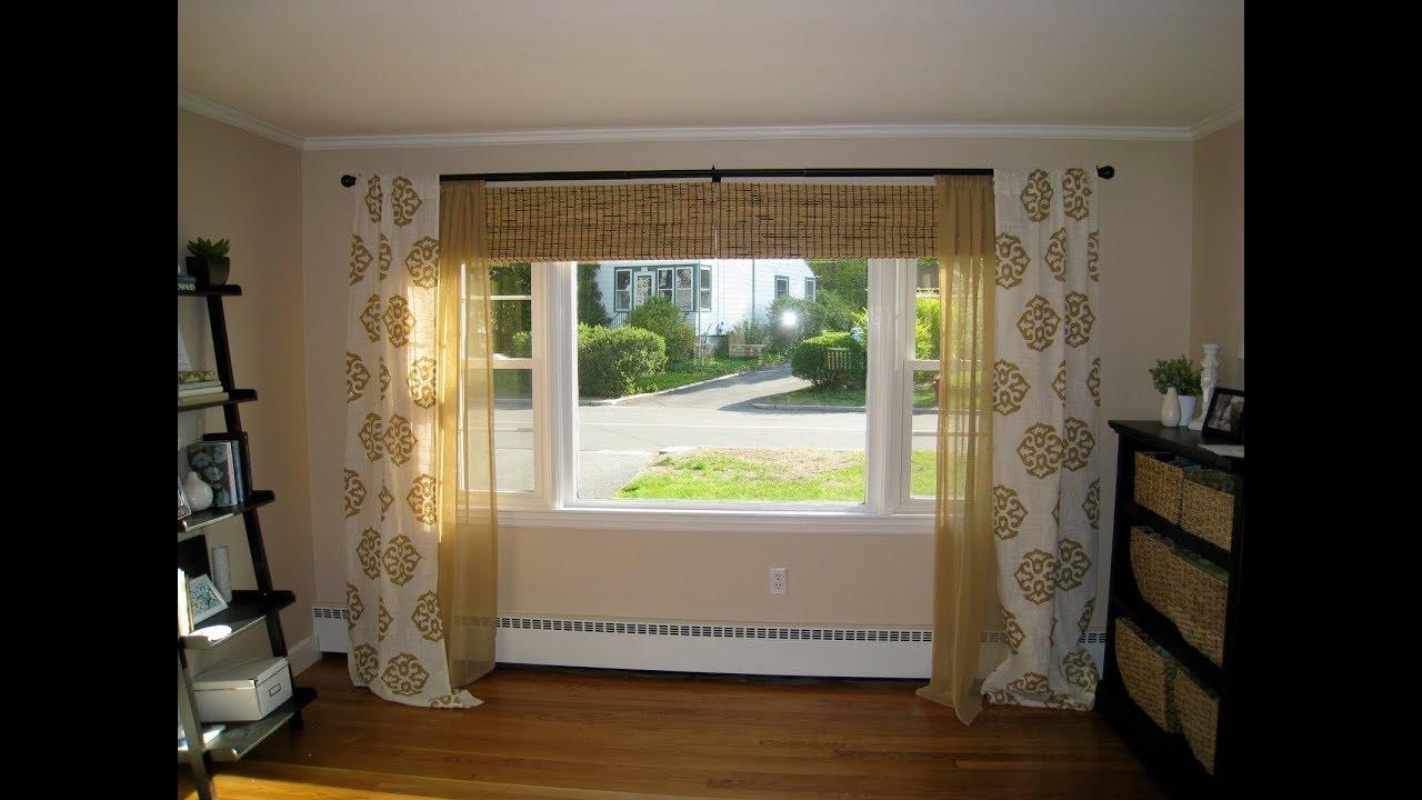 Bedroom Curtain Ideas Large Windows - YouTube